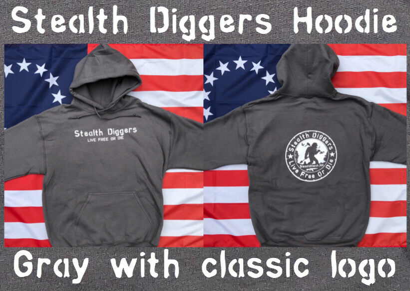 Stealth Diggers Hoodie in grau Classic LFOD logo Metal Detecting relic hunting