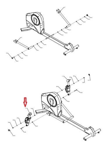 Life Fitness X5i X5 Elliptical Stride Coupler Adjuster Gray Right 7037701