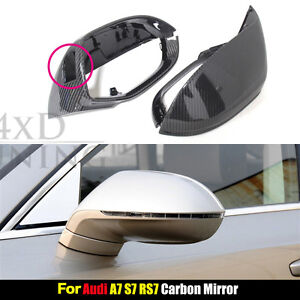 Carbon Fiber Mirror Cover for A7 S7 RS7 2011 2012 2013 W// Side Assist MO