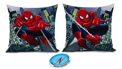 Rispettoso Cuscino Cameretta Bimbo Morbido Imbottito Spiderman Uomo Ragno Originale Marvel Attraente E Durevole