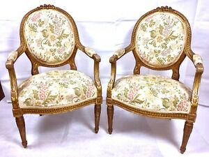 Merveilleux Details About FRENCH GOLD GILT CHAIRS  EARLY TO LATE 1800u0027S