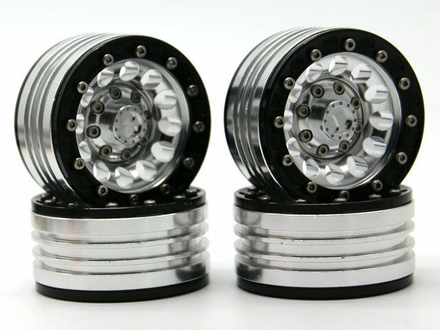 1.9 heavy duty alloy wheel rim set for 1 10 rc crawlers - 4pcs