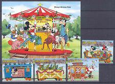 Walt Disney, Weihnachten - St.Vincent - 4 Werte, 1 Bl. ** MNH Teilsatz 1988
