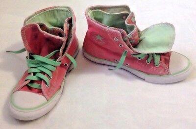 Converse All Star High Top Schuhe SZ 3 rosa mint Double Tongue Sneaker | eBay
