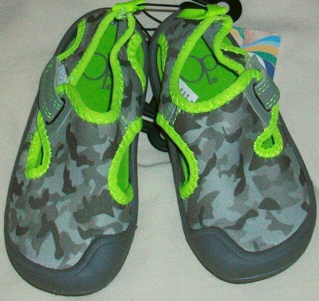 7a4fab85f Op Ocean Pacific Gray Camo Neoprene Swim Pool Beach Water Shoe Boy S ...