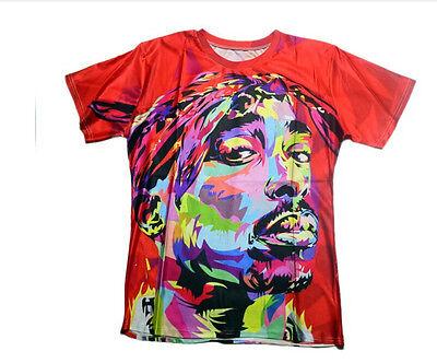 New Fashion Style Womens/Mens Hip Hop Stars 3d Print Character T-Shirt TS05