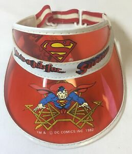 1982-1983-DC-Comics-SUPERMAN-red-visor-with-tag