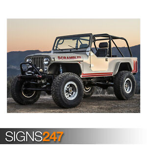 JEEP-CJ-8-SCRAMBLER-AE899-Photo-Picture-Poster-Print-Art-A0-A1-A2-A3-A4