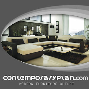 Ultra Modern Italian Leather Sectional Sofa Contemporary Design ...