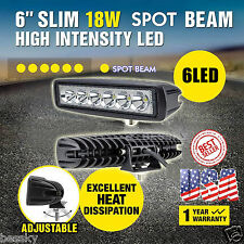 18W LED Work Lights Bar Spot Light Offroad Car Jeep SUV ATV 4WD 12V 24V US STOCK