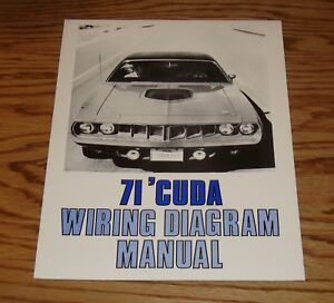 1971 Plymouth Barracuda Wiring Diagram Manual 71 | eBay on 70 charger wiring diagram, 61 impala wiring diagram, 71 cuda wiper motor, 70 cuda wiring diagram, 67 camaro wiring diagram, 68 charger wiring diagram, 1967 pontiac gto wiring diagram, 71 cuda rear suspension,