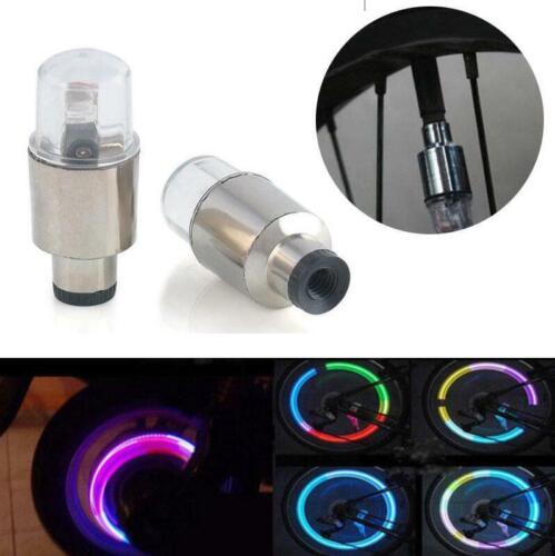 2xBike Car Motorcycle Wheel Tire Tyre Valve Cap Spoke Neon LED Flash Light