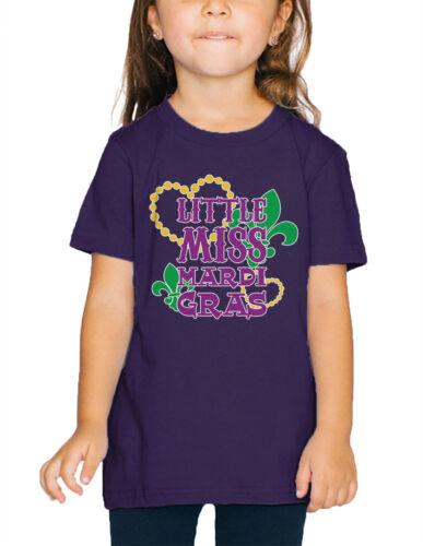 Little Miss Mardi Gras Louisiana State Festivities Infant Toddler T-Shirt