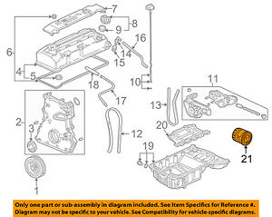 details about honda oem 00 09 s2000 engine oil filter 15400pcx004 S2000 Engine Diagram