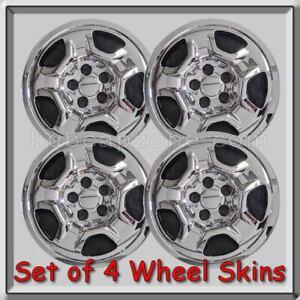 Jeep-Renegade-Chrome-16-034-Wheel-Skins-Hubcaps-Chrome-Wheel-Covers-2016-2017-Set-4