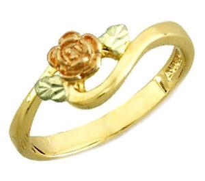 Landstrom-039-s-10K-Black-Hills-Gold-Rose-Ring-Size-4-10