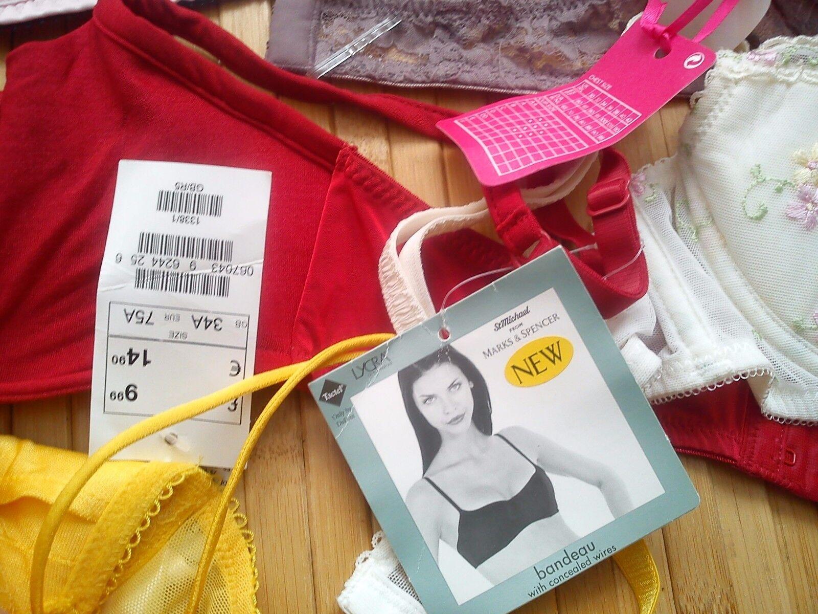 La Senza M&S nuevo utilizado 9x 9x 9x paquete Trabajo Lote para señoras mujeres Bras conjuntos 34 A 36 A (75 A) f5fe55
