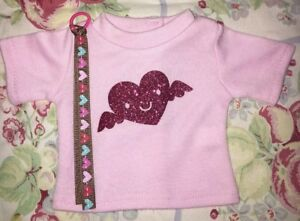 Valentine039s Day Doll Tee Shirt amp hair ribbon smiley Heart Fits luciana grace kit - Westford, Massachusetts, United States - Valentine039s Day Doll Tee Shirt amp hair ribbon smiley Heart Fits luciana grace kit - Westford, Massachusetts, United States