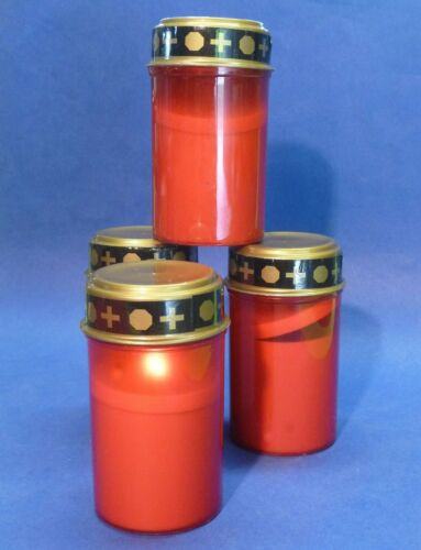 4-pièce grablichter DEL avec Scintille bougie en plastique 12,5 cm hauteur 819-4