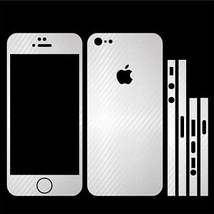 22-FARBEN-IPHONE-5-FOLIE-WEISS-CARBON-BUMPER-COVER-HULLE-SKIN-SCHALE-CASE