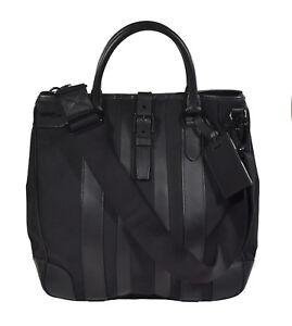 8ebd8fbb3010 Image is loading Ralph-Lauren-Black-Label-Nylon-Leather-Shoulder-Tote-