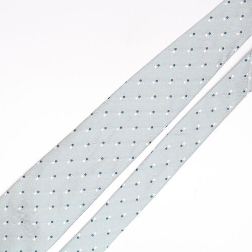 Gladson Mens Silk Necktie Seafoam Green White Dual Polka Dot Pois Tie Italy