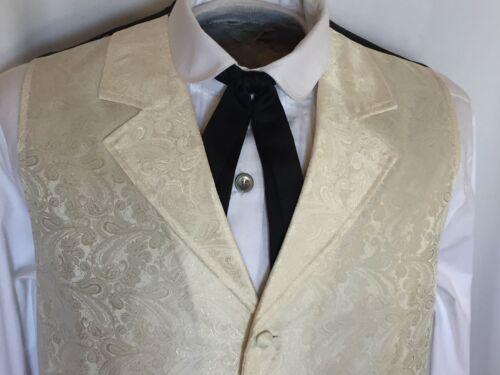 S-6X /& Talls Scully Rangewear Men/'s Cheyenne Ivory Creme Paisley Western Vest