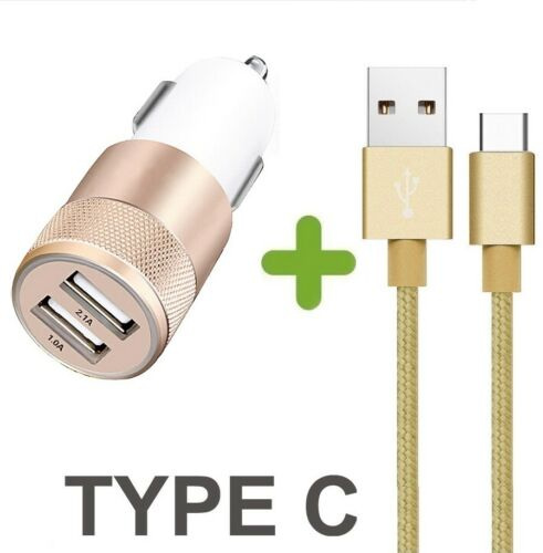 FOR SONY XPERIA XZ X COMPACT Fast In Car /& Type-C Metal Charger Lead Cable