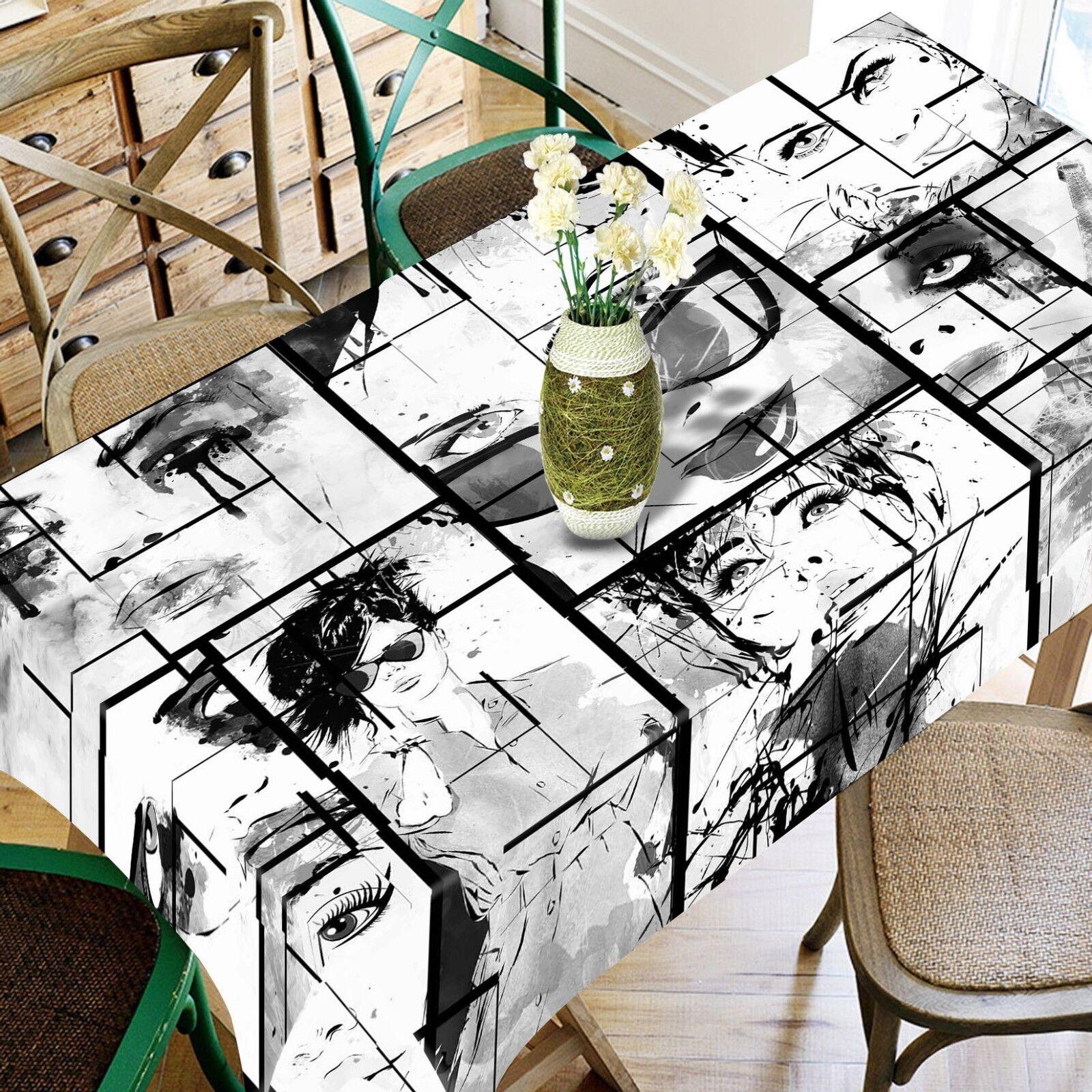 3D Sketch Eyes 055 Tablecloth Table Cover Cloth Birthday Party Event AJ Lemon