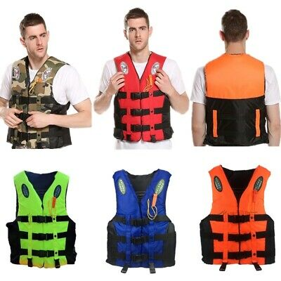 EP/_ Adult Kids Life Jacket Swimming Boating Drifting Floating Vest with Whistle