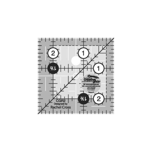 Creative Grids Quilt Ruler 2-1//2in Square # CGR2