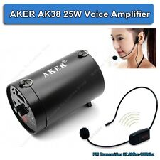 AKER AK38 25W Voice Amplifier Booster With FM Wireless Mic For Meeting Speaker