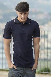 Polo-Maglia-T-Shirt-Uomo-lavoro-manica-corta-cotone-Abbigliamento-Abiti