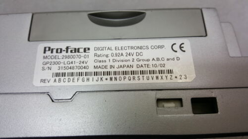 GP2300 LG41 24V Monochrome Touch Pannel HMI USED EMS//UPS Fast Shipping Proface