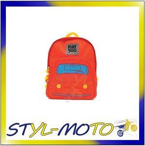 f55f8786a4 Caricamento dell'immagine in corso FITR52-FIAT-500-ZAINETTO-BIMBO-FIAT -ROSSO-UFFICIALE-