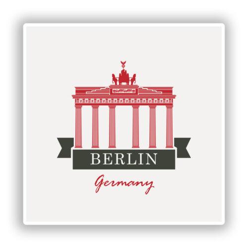 2 x Berlin Germany Vinyl Stickers Travel Luggage #10217