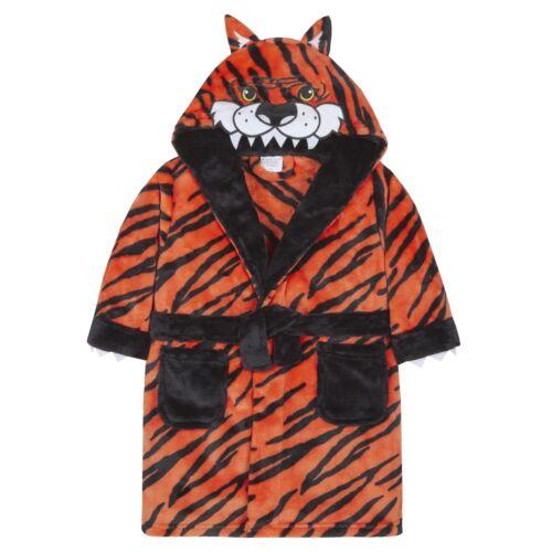 Childrens Novelty Tiger Design Fleece Dressing Gown ~ 2-13 Years