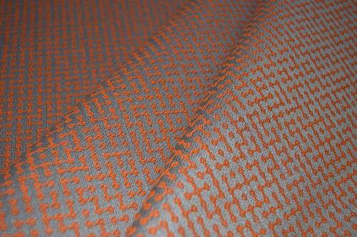 tapicería Cojín tejido de mobiliario Craft Geométrico Naranja eléctrico-ciego