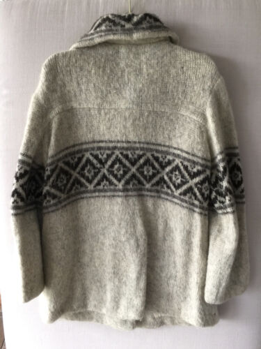 Vintage Mohair 70s lana Eider 80s invierno chaqueta Reto Knit qqwgvrz