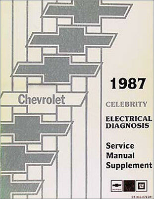 1987 chevy celebrity electrical manual wiring diagrams | ebay  ebay