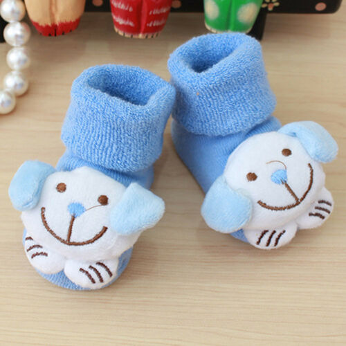 Newborn Kids Baby Girls Boys Cartoon Anti-Slip Warm Socks Slipper Shoes Boots