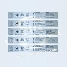 NEW 5x Wascomat Gen6 Instruction Sign Overlay (W620,W630,W640) - Part # 285181
