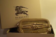 Burberry Leather Bridle Belted Clutch Bag (Prorsum Runway Nude Suede)