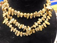 Jewelry Necklace Pearl Genuine Freshwater Baroque 49 6-7mm Rough Olive Green Ne