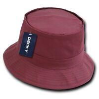 Maroon Fisherman's Fishing Hiking Bucket Safari Sun Boonie Cap Hat Caps Hats S/m