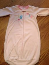 Carter's 0-9 Months Baby Girl Pink Fleece Sleeper Sleepsack Bag