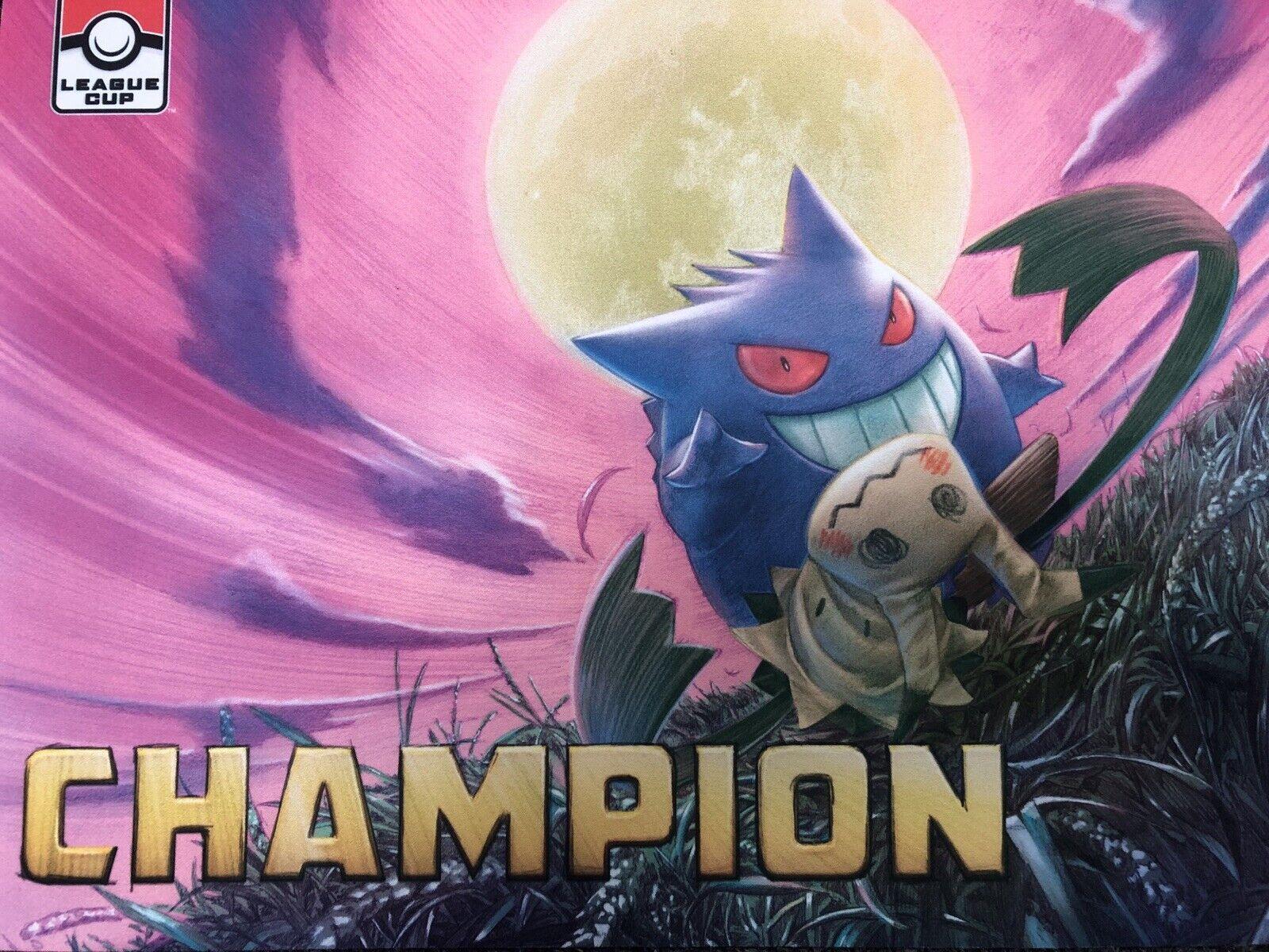 Pokemon gengar & mimikyu tag campeón de la Liga Jugarat