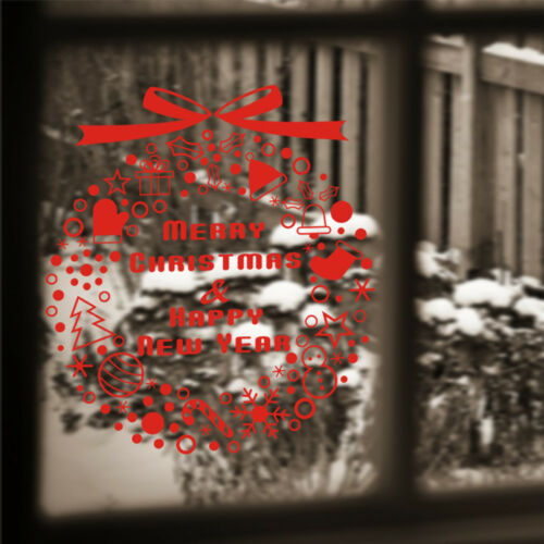 Merry Christmas Window Stickers Lovely Decoration Decal Home Wall Bedroom Decor