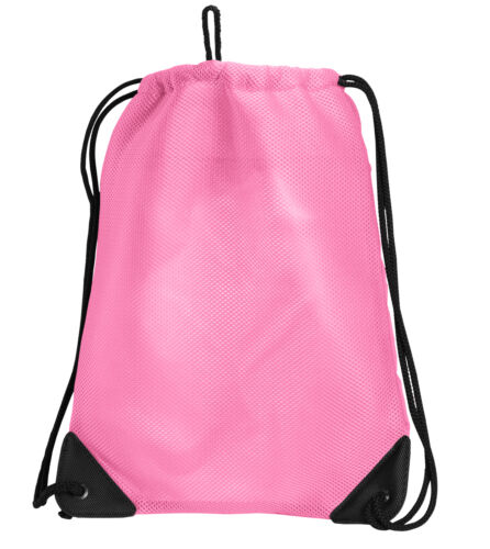 Pink FLAMINGO Drawstring Bag Pink Backpack MESH /& MICROFIBER Draw String BAGS Ba