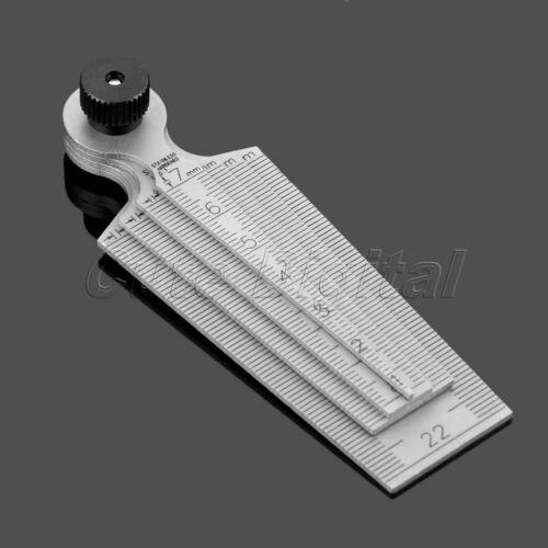 1pc 0mm-29mm Gap Hole Measuring Taper Gauge Ruler Inspecting Tool 80mm Length